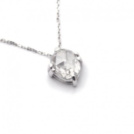 Collaret Diamant Rosa en or blanc de 18kt