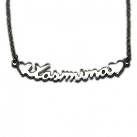 Collar con Nombre en plata de ley :: Yasmina