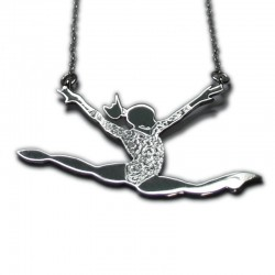 Collar Gymnastics en plata de ley