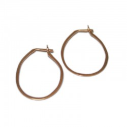 Rose Gold Creoles