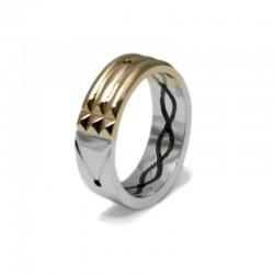 Anillo Atlante en oro y plata