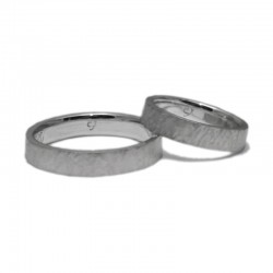 Basic Hammered Silver Wedding Rings
