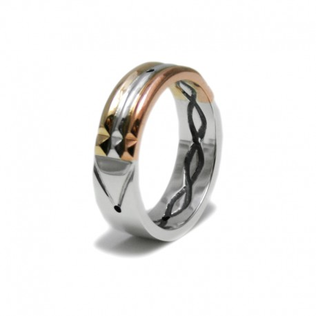 Atlantis Ring in Gold, Silver and Rose Gold