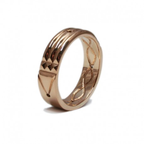 Atlantis Ring in rose gold