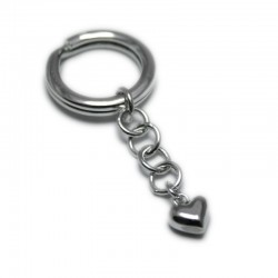 Pinch of Love Keychain in Sterling Silver