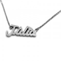 Name Necklace :: Júlia with an accent