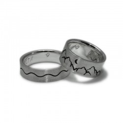 Sea and Mountain Wedding Rings
