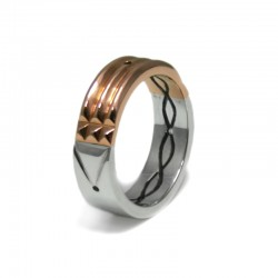 Atlantis Ring in Rose Gold and Silver