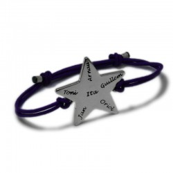 Star Bracelet with Names