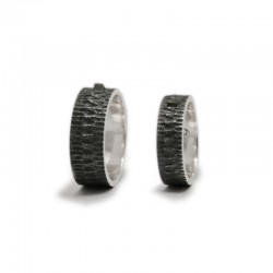 Silver Connection Wedding Rings