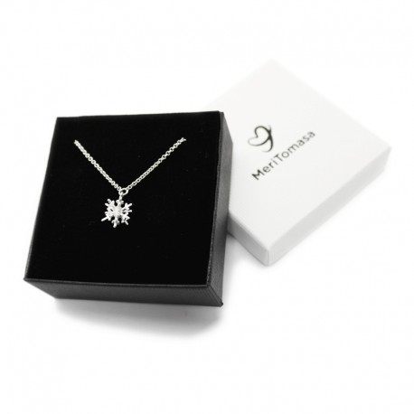 3D Snowflake Necklace in sterling silver