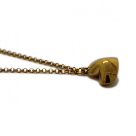 Heart necklace in 18K gold