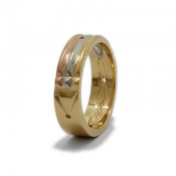 Atlantis Ring in yellow, rose and white gold