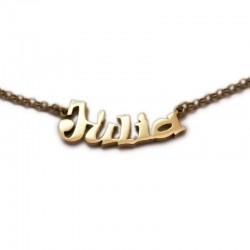 Name Necklace :: Júlia with gold bath