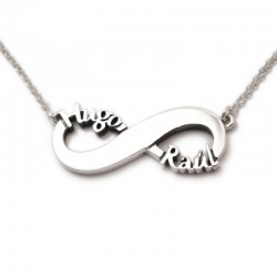 Infinity Name Necklace :: Raúl and Hugo