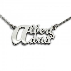 Custom Necklace with Two Names :: Albert and Adrià