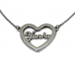 Name Necklace :: Yanka inside a heart
