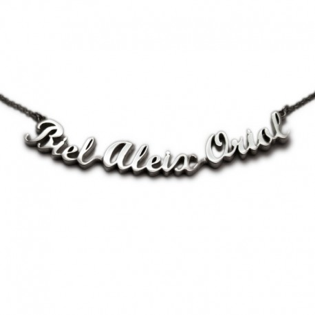 Custom Necklace with Three Names :: Biel, Aleix i Oriol