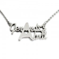 Custom Necklace with Two Names :: Gerard and Abril