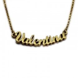 Name Necklace :: Valentina with gold bath