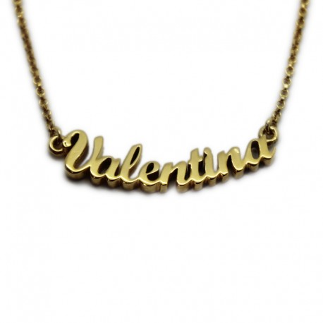 Custom Name Necklace with Gold Bath