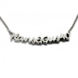 Custom Necklace with Two Names :: Hans & Gus