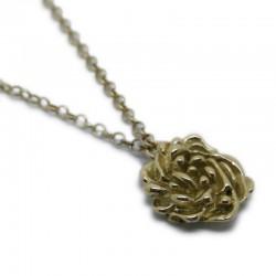 Sant Jordi Roses Necklace in Gold