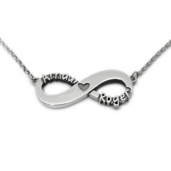 Infinity Name Necklace :: Arnau and Roger