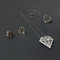 Diamants en plata de llei