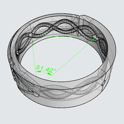 Design of the Atlantis Ring in The MeriTomasa's Treasures Factory