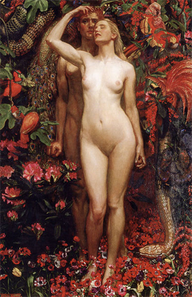 The Woman, the Man and the Serpent, de Byam Shaw (1872–1919)